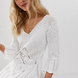 NWT ASOS Design Crochet Knit Dress